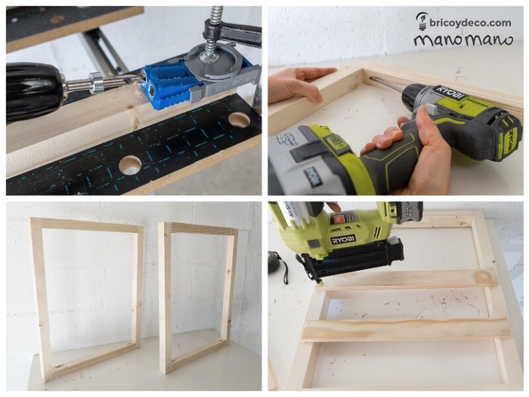 thehandymano mano mano tutorial diy how to make pallet trolley join together with drill