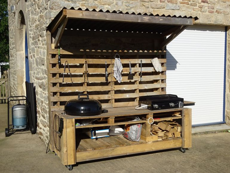 barbecue en palette