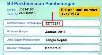 How to pay utility bill using maybank2u -  Sample Indah water