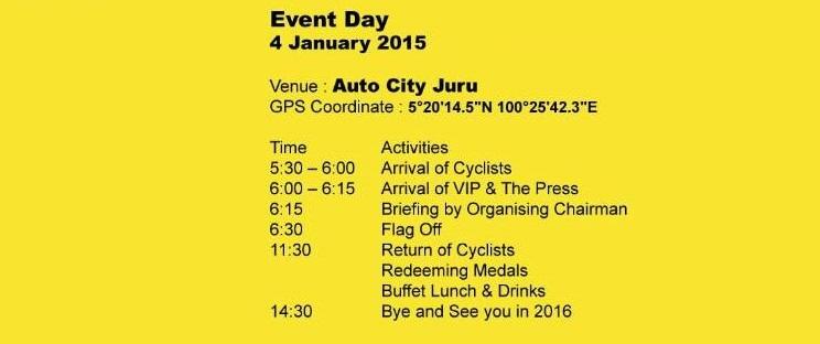 TriState 2015 Event Schedule