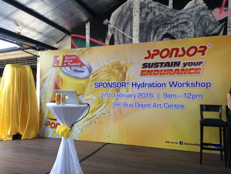 Sponsor launching in Penang Malaysia - the Stage