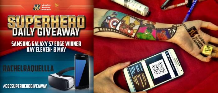 GSCSuperheroDailyGiveaway Winner 8 May - RACHELRAQUELLLA