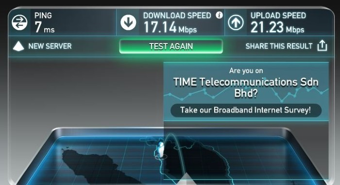 TIME Fibre 100 Mbps Wifi Connection