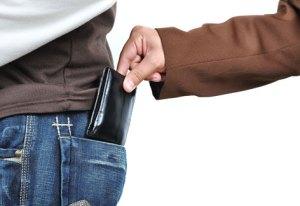 Cuidado com sua carteira em qualquer lugar que esteja