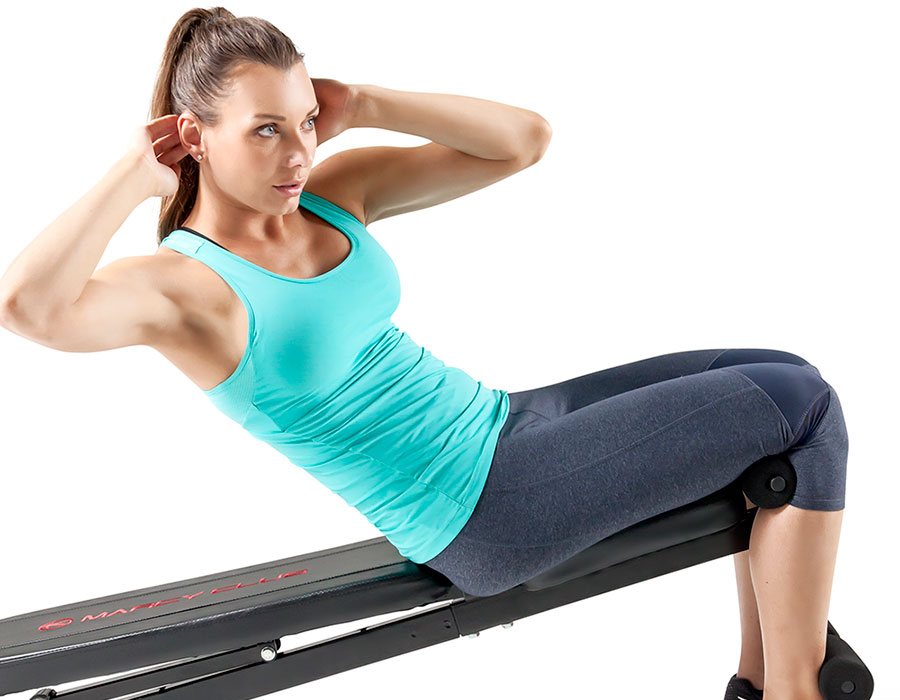 Best core exercises body weight bench workouts MKB-211 Declined sit ups