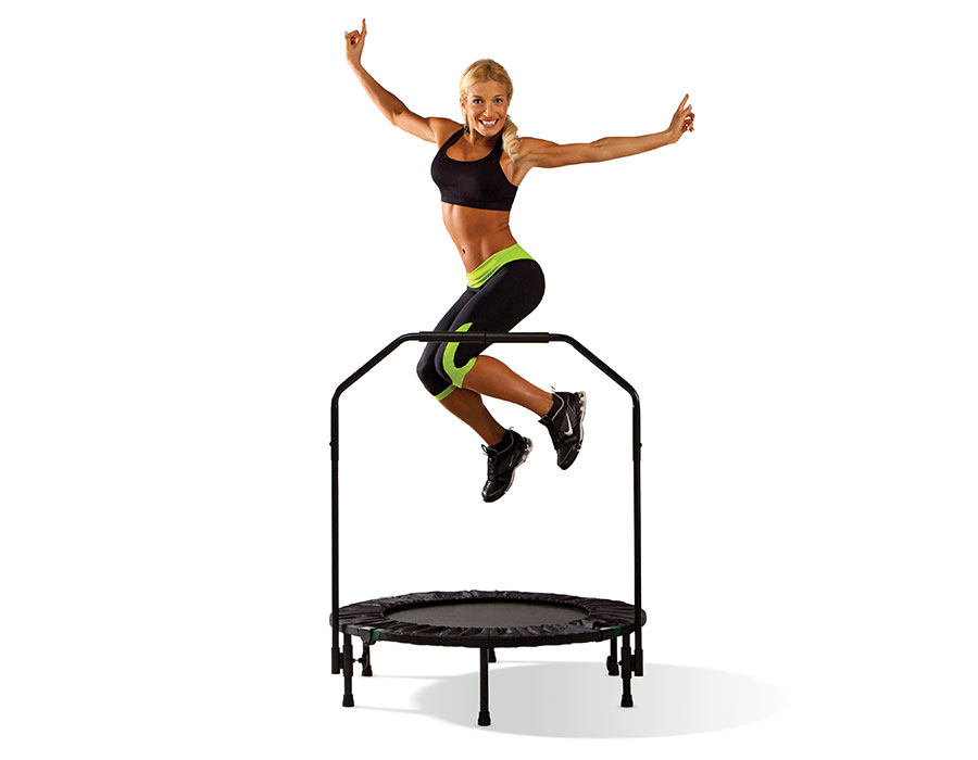 Mini Exercise Trampoline Workout in Use
