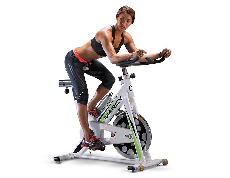 Exercise bike hiit cardio workout NSP-122