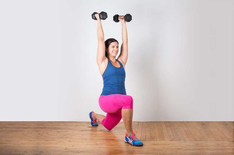 4 gym exercises for runners overhead lunges