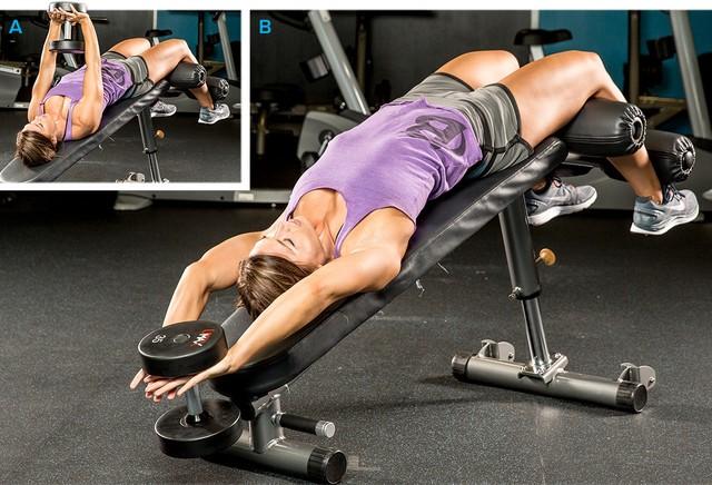 build a better back through exercise barbell deadlift decline bench dumbbell pull over