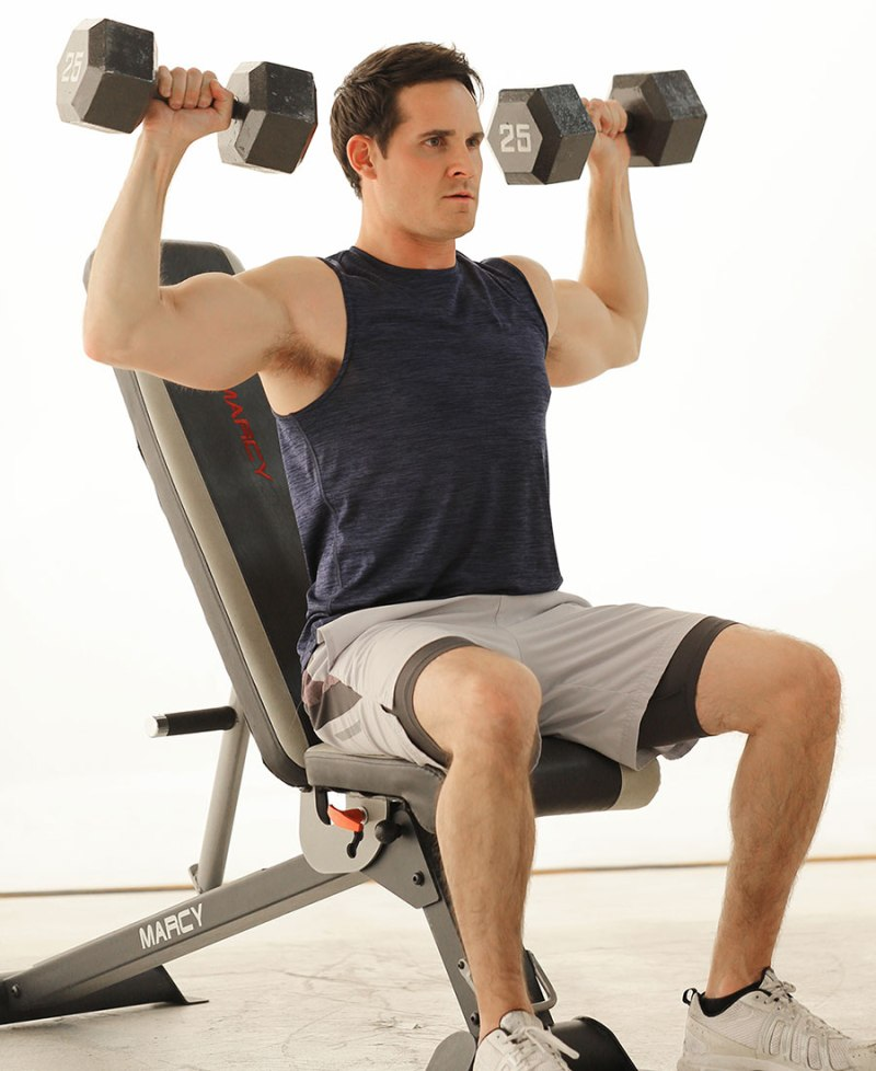 Marcy-Model-on-Bench-with-SB-670-and-Dumbbells