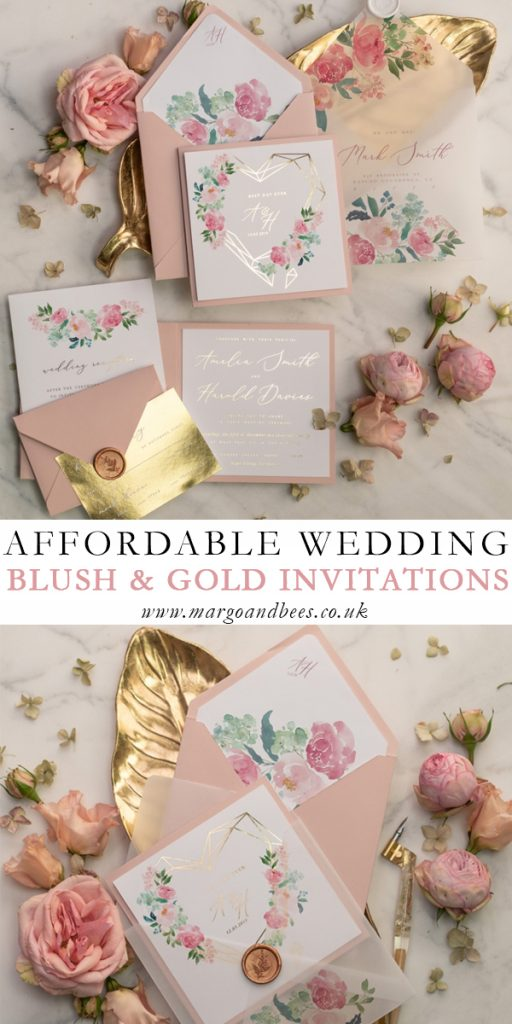 The Most Beautiful Affordable Gold Wedding Invitations