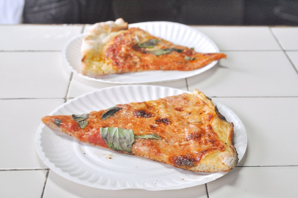 Two Di Fara Pizza slices