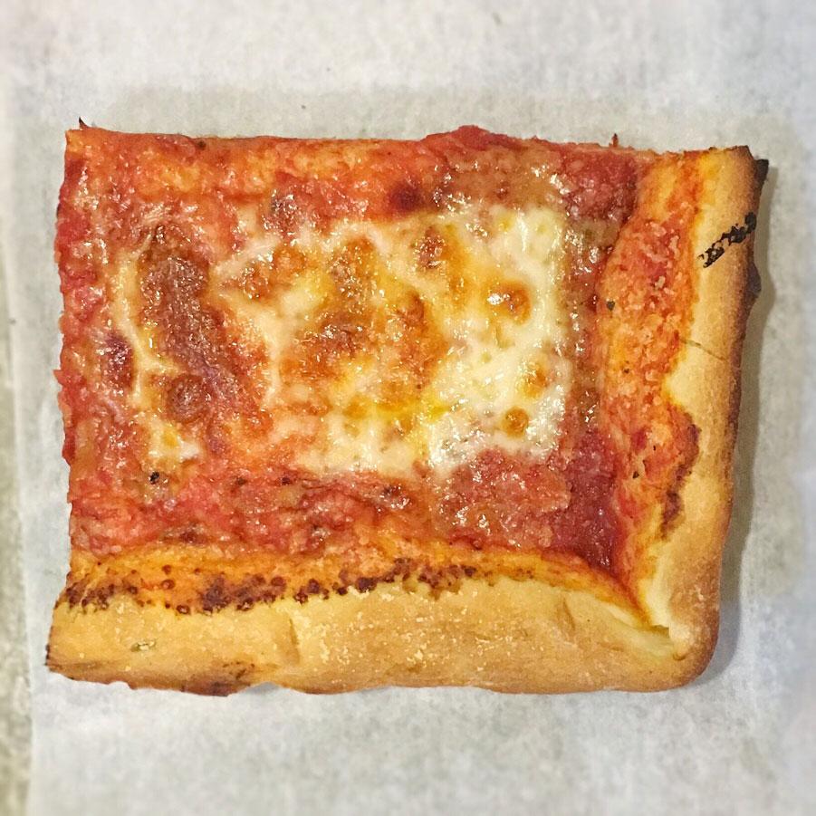 Rizzo's Pizza 'thin-crust Sicilian' slice