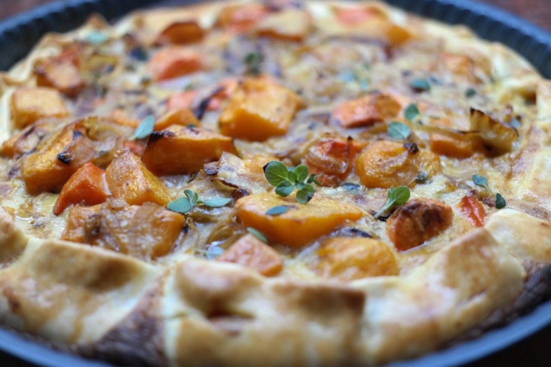 Tarta De Calabaza Y Cebollas Caramelizadas Marianlaquecocina