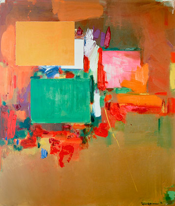 Painting: Song of the Nightingale by Hans Hoffman 1964, Oil on canvas 84 x 72 inches