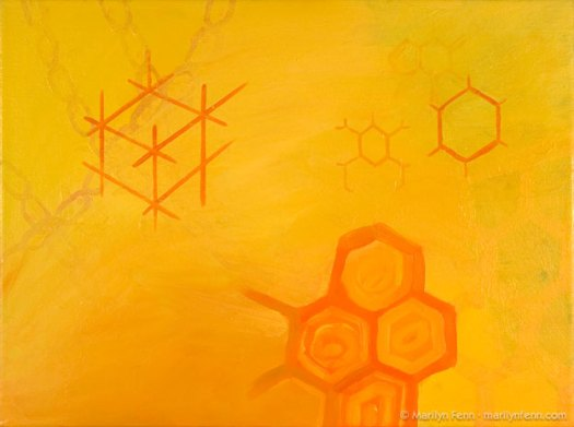 """Hex"" Oil on Canvas 16"" x 12"" © 2009 Marilyn Fenn"