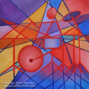 "One Flight Down · Oil on Canvas · 28""x28"" · 2004"
