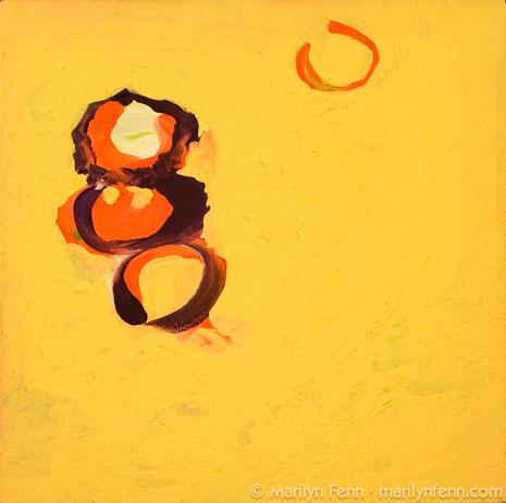 """Be Bop a Re Bop"" Acrylic on Canvas 12"" x 12"" © 2010 Marilyn Fenn"