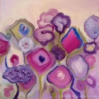 Ovation in Pinks - Oil on canvas - 12 x 12 inches - copyright 2012 Marilyn Fenn