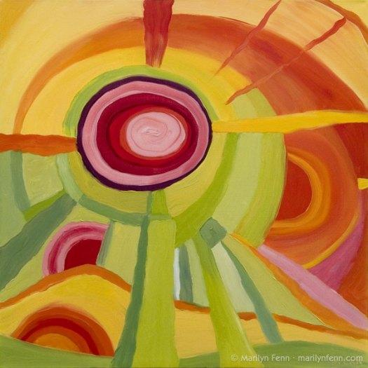 """""""Energy Renewal"""" Oil on canvas 24"""" x 24"""" © 2012 Marilyn Fenn"""