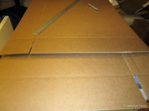 Measure how much to cut down your box; don't forget to include the flaps.