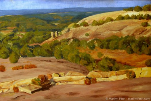 Enchanted-Rock-Oil-on-Masonite-16x24-inches-copyright-1992-Marilyn-Fenn
