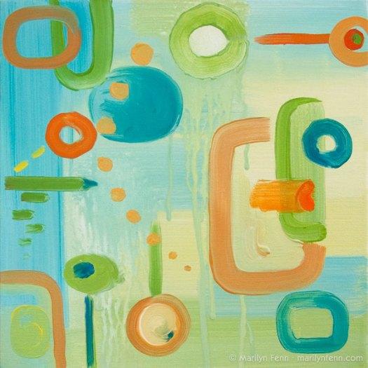 """""""Paradigms Lost"""" Oil on canvas 12"""" x 12"""" © 2011 Marilyn Fenn"""