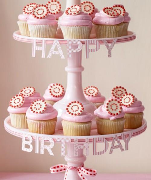 cupcakes per il compleanno in rosa