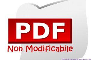 PDF non modificabile