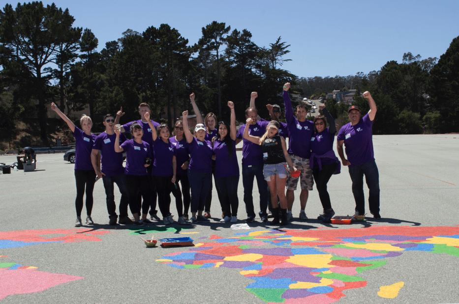Marketo employees volunteering in San Mateo