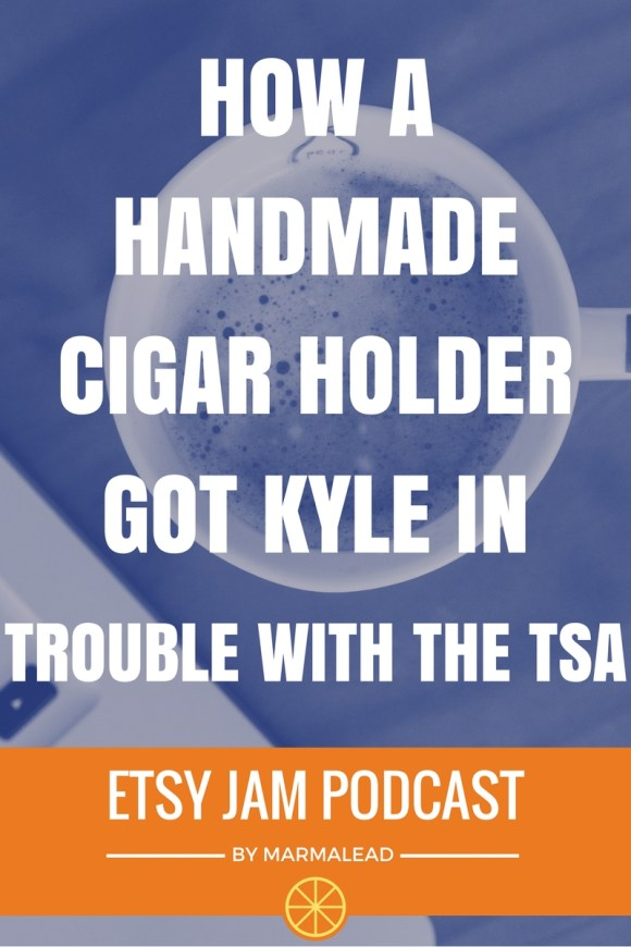 In this episode we talk with Kyle from CigartMetalWorks. Kyle got started on Etsy by creating a product that scratched his own itch and helped him feel like Arnold Schwarzenegger on the golf course. We talk with him about beta testing with friends and customers, his custom video he has on his About page, run-ins with the TSA, a handy spreadsheet he uses to stay motivated and more!