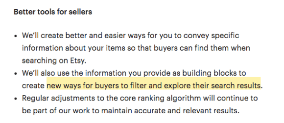 """""""new ways for buyers to filter and explore their search results"""""""