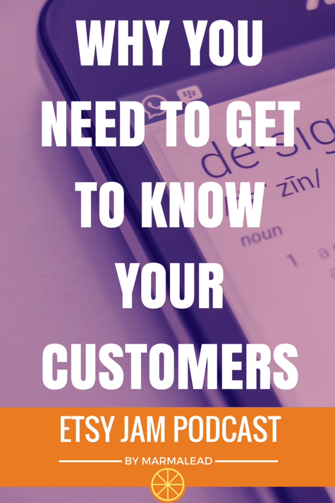 Welcome to Episode 11 of Etsy Jam. In this episode we talk about YOUR customers. How reaching out and learning about your customers will put you in a much better spot than relying on information from other sellers about THEIR customers.