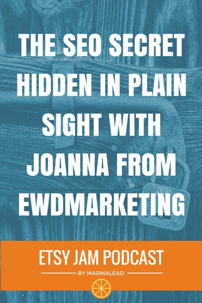 In this episode, Joanna joins us from EWD Marketing. This is her SECOND time with Etsy Jam. Joanna has been doing some testing and has found some really interesting things that she wanted to share with everybody. But we'll get to that in a minute. :-)