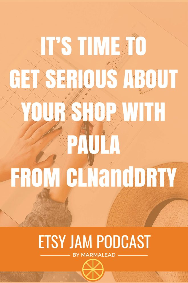 Is your shop a side hustle or a full-time focus? When will you cross the threshold into your newly built handmade or vintage business? This week we talk with Paula from CLNandDRTY about when that time came for her, the decisions she made which helped set herself up for success, one of the top simple things she does to nourish a healthy community and some tricks she's found to help overcome the challenges she's faced with time and money. Sit back and crank up the volume for another great Etsy Jam.
