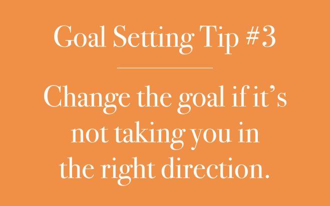 Change the goal