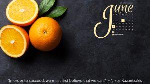 June free desktop calendar Marmalead