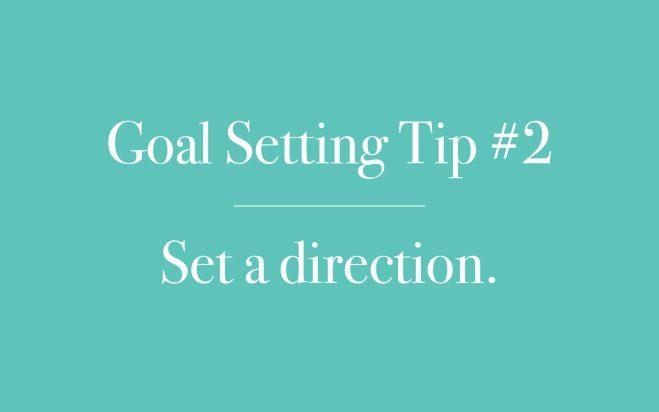 Set a direction