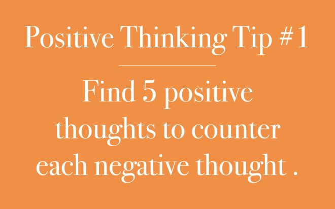 Find five positive thoughts
