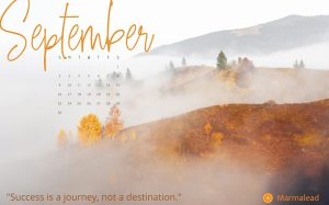 September 2018 Free Desktop Calendar