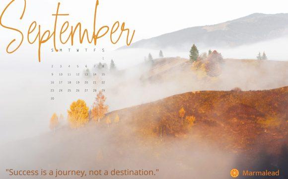 September 2018 Free Desktop Calendar