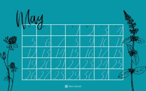 May 2019 Free Calendars from Marmalead