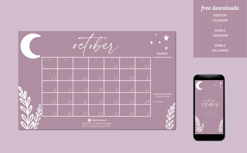 Q4 2020 Free Desktop Calendars