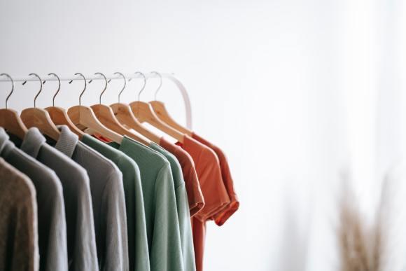 shirts hanging on hanger