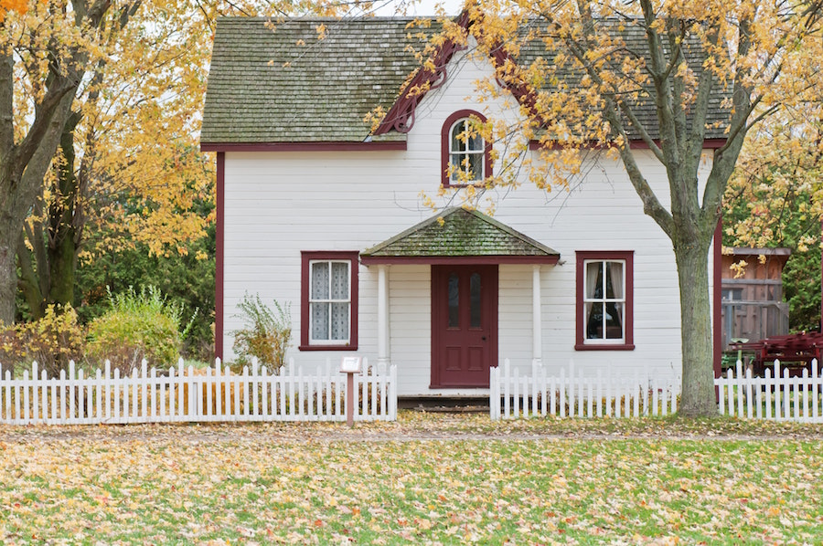 A house you can find by buying during the fall
