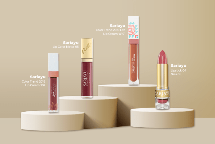 Koleksi Warna Lipstik Sariayu_Cokelat