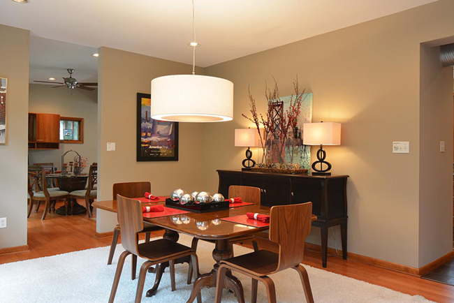 Intimate dining space at 5432 Windmill Lane, Raleigh, NC
