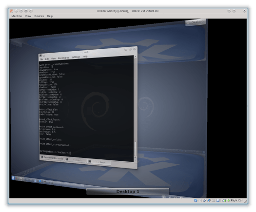 KWin with OpenGL in VirtualBox