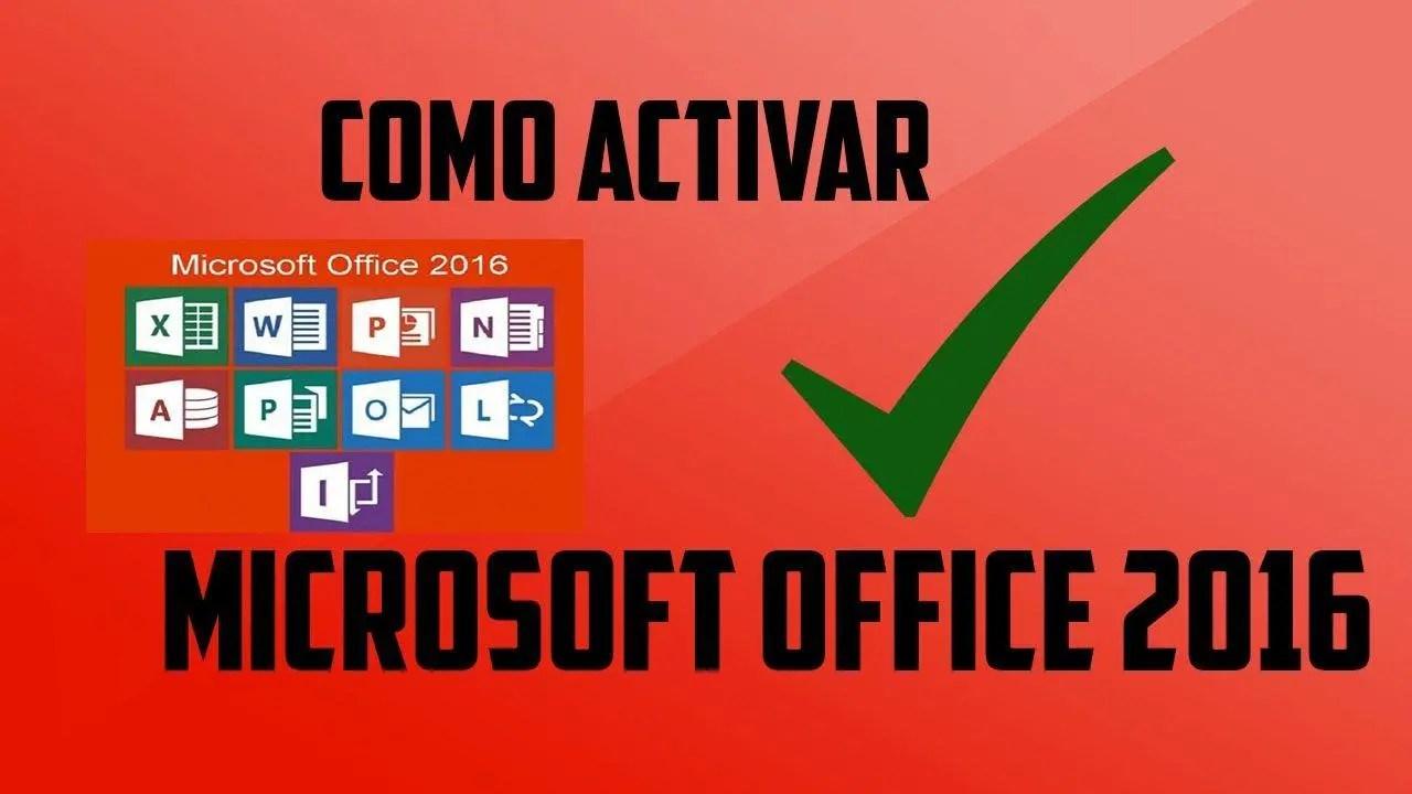 activar microsoft office professional plus 2016