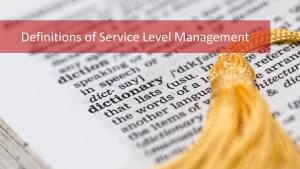 Learn the 6 Most Important Terms of the ITIL Service Level Management